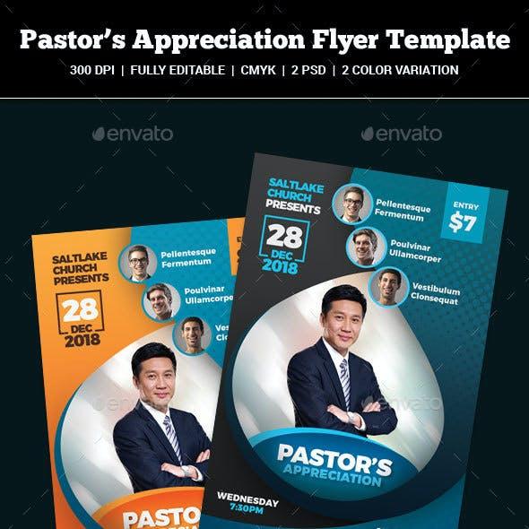 Pastor's Appreciation Church Flyer