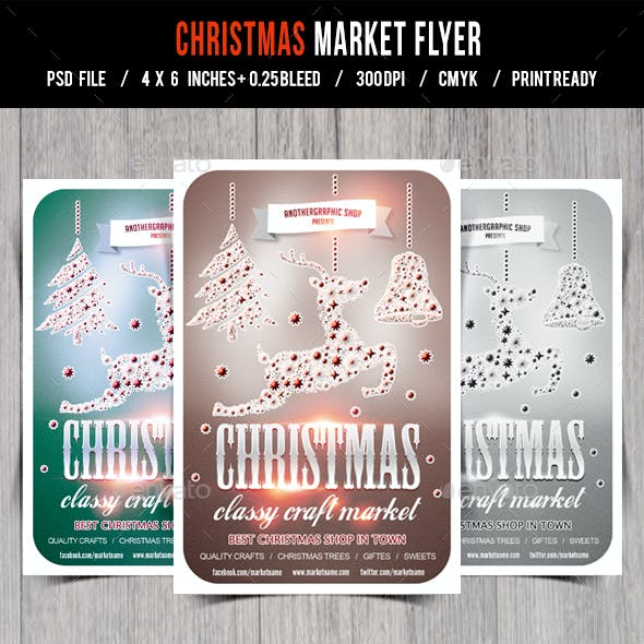 Christmas Flyer/Poster/Card Retro Vol.15