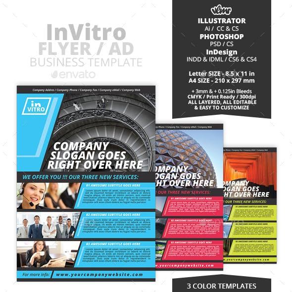 InVitro Business Flyer / Ad Template