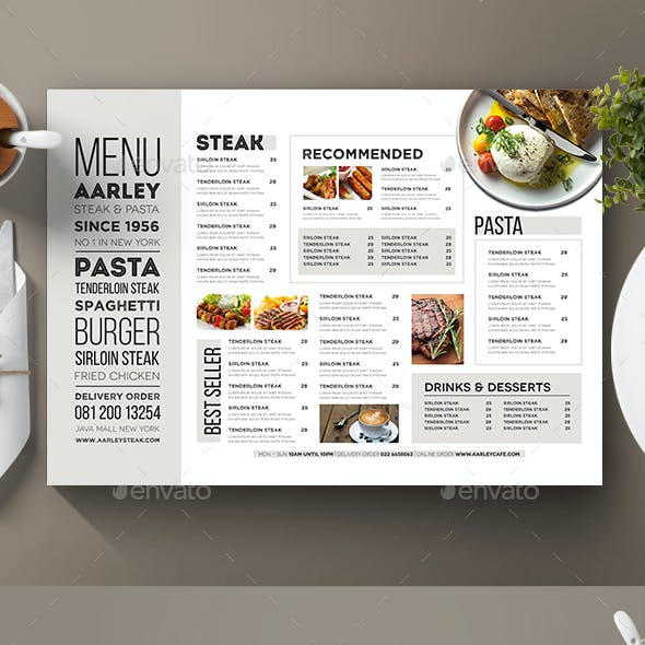 Typography Menu