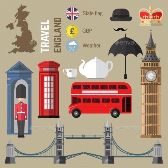 Set Of London/England Symbols.