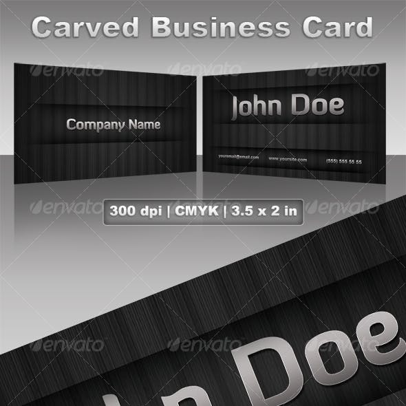 Carved Business Card