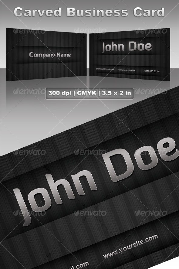 Carved Business Card - Corporate Business Cards