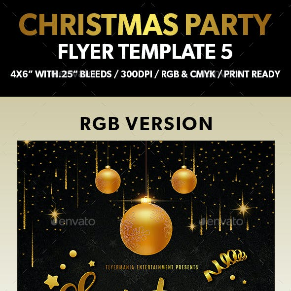Christmas Party Flyer Template 5