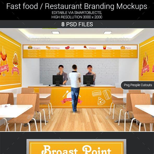 Fast food / Restaurant Branding Mockups