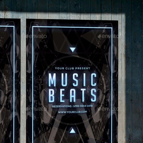 Music Beats Flyer Poster Template
