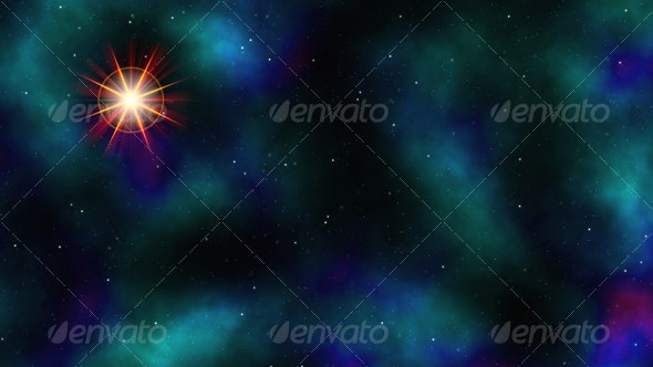 Space With Flare - Tech / Futuristic Backgrounds