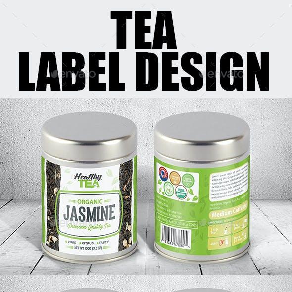 Tea Label Templates Vol-01