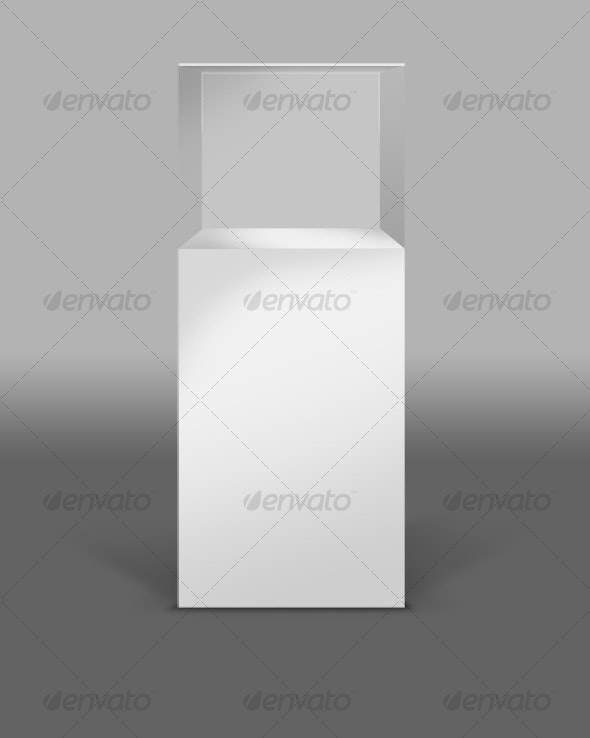 Display Case - Museum or art gallery - Objects 3D Renders