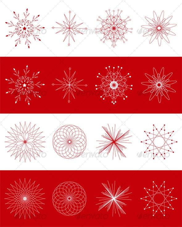 Geometric shapes - Christmas Seasons/Holidays