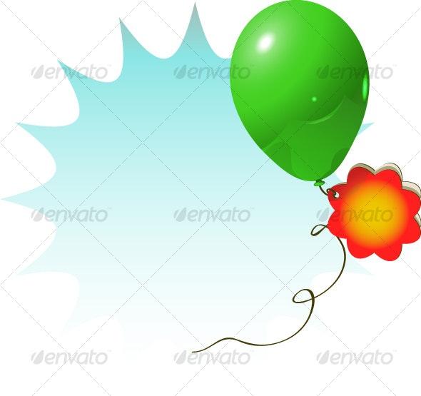 advertisement ballon - Decorative Symbols Decorative