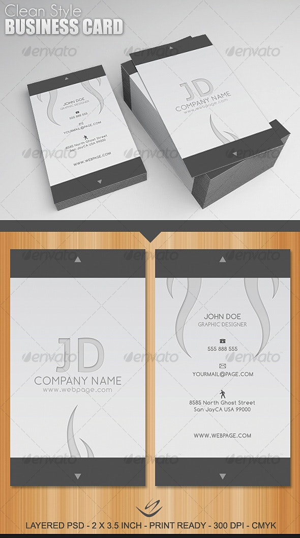 Clean Style Business Card - Creative Business Cards