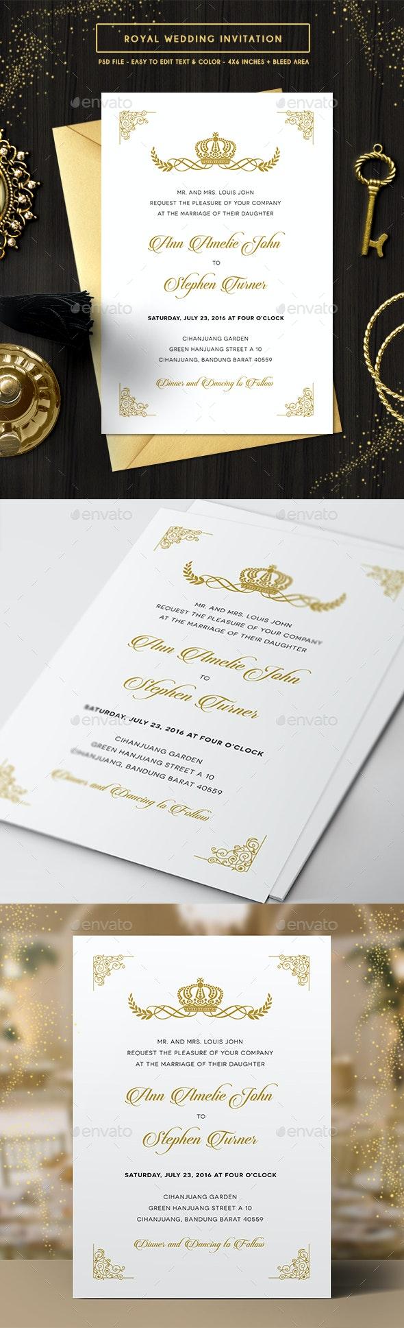 Royal Wedding Invitation - Weddings Cards & Invites