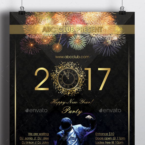 New Year 2017 Party Flyer