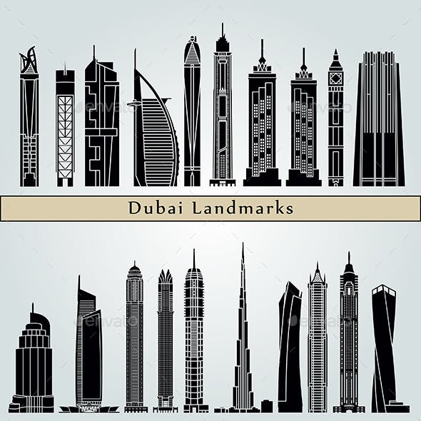 Dubai V2 Landmarks and Monuments
