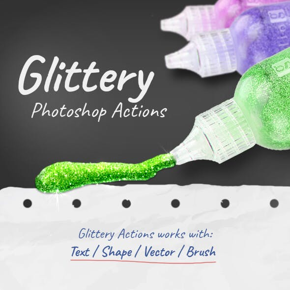 Glittery - Photoshop Actions