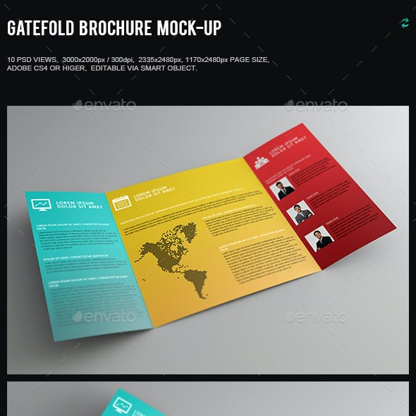 Gatefold Brochure Mock-Up