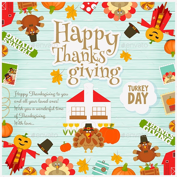 Thanksgiving Card - Miscellaneous Seasons/Holidays