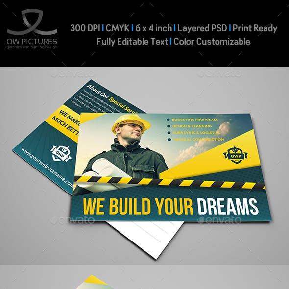Construction Postcard Template Vol.2