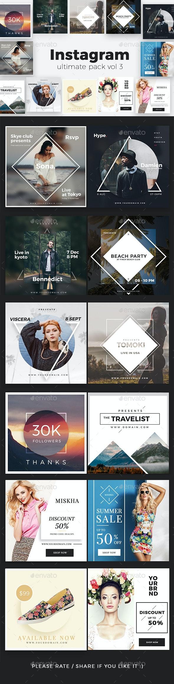 Instagram Pack Vol 3 - Social Media Web Elements