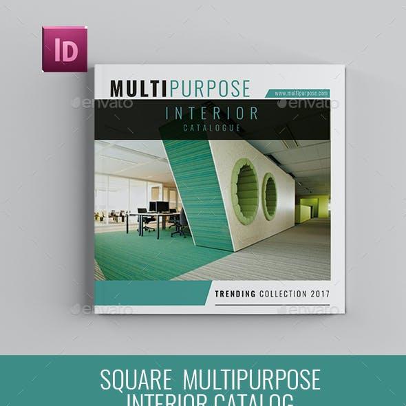 Square Multipurpose Interior Catalog Brochure