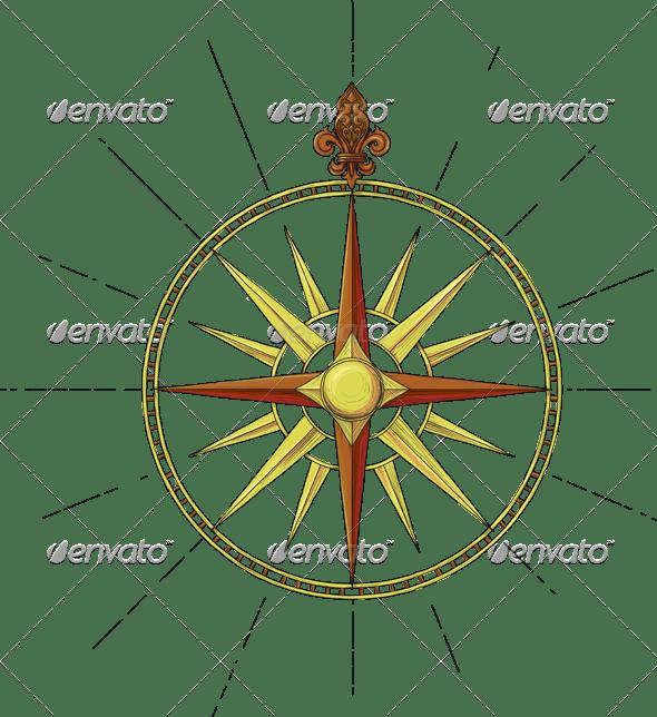 Former Marine Wind Rose symbol - Travel Conceptual