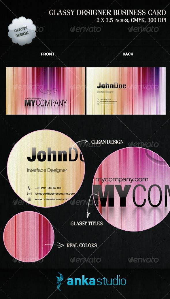 Glassy Designer Business Card - Creative Business Cards