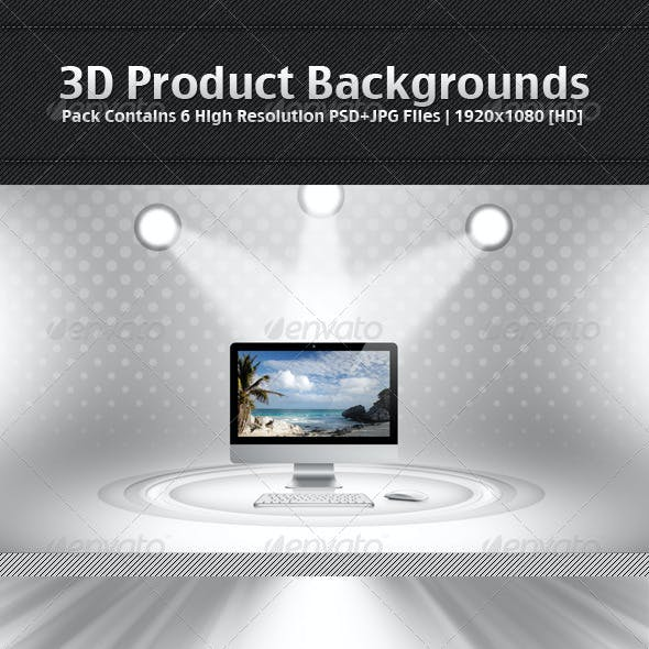 3D Product Backgrounds Pack 1