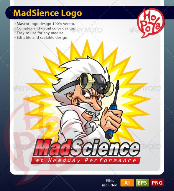 Mad Science Mascot - People Characters