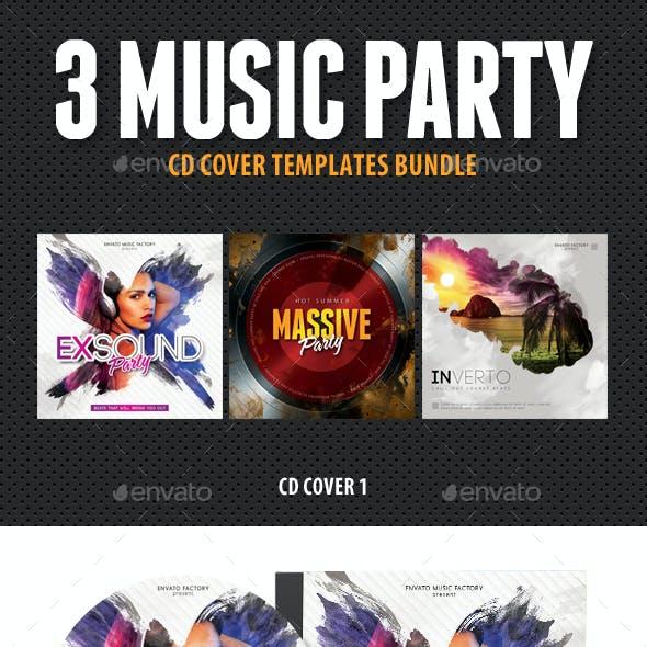 3 Music Party CD Cover Bundle V1