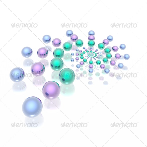 glamour spheres spiral - 3D Backgrounds