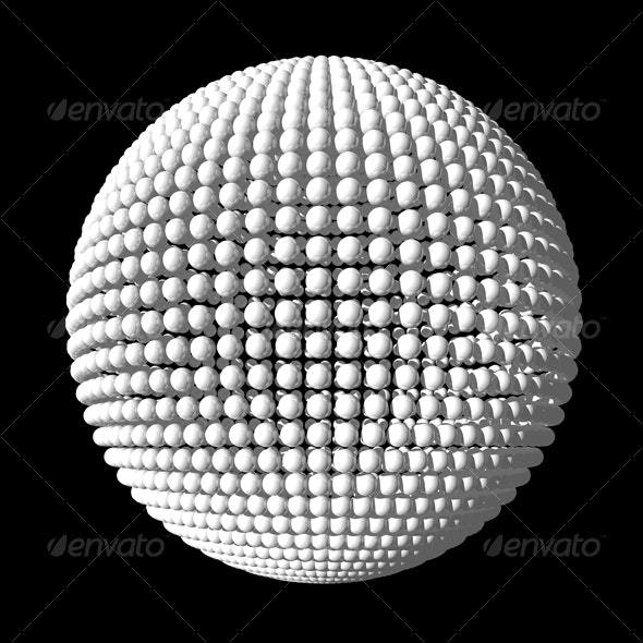 Sphere from white spheres - Objects 3D Renders