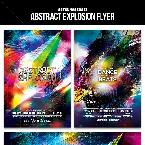 Abstract Explosion Flyer