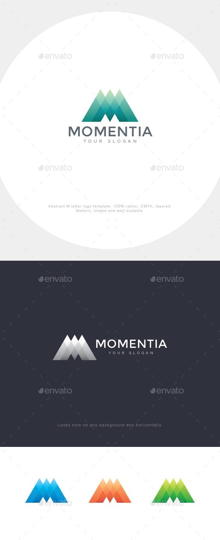 Mountain M Letter Logo - Letters Logo Templates