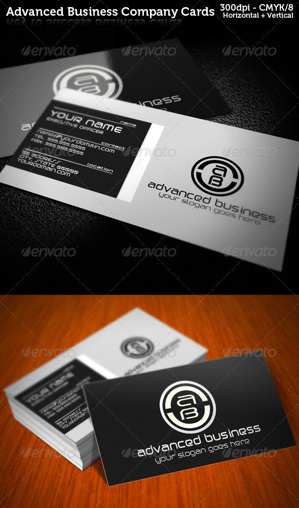 Dark Advanced Company Business Cards - Creative Business Cards