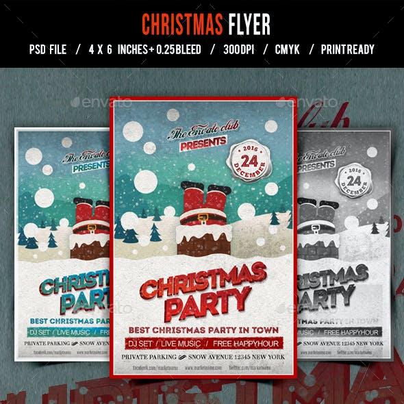 Christmas Flyer/Poster/Card Retro Vol.16