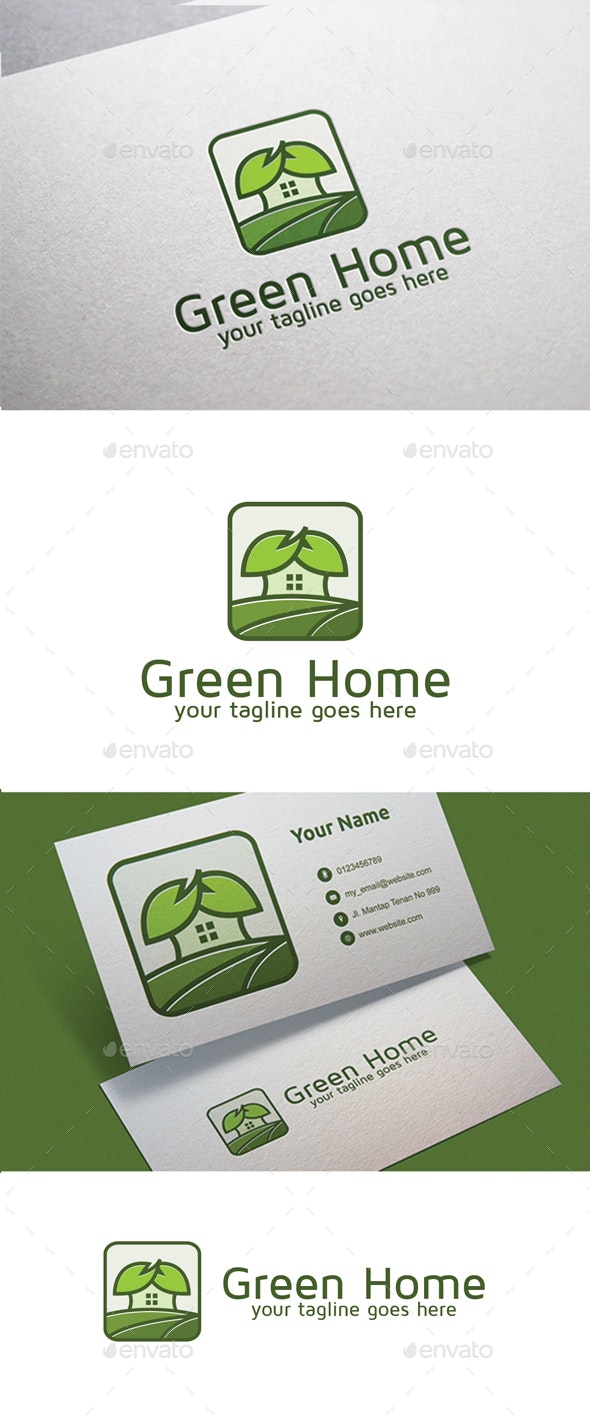 Green Home - Nature Logo Templates