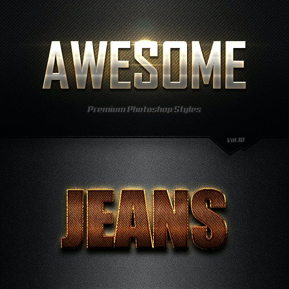 Photoshop Text Effects Vol.10