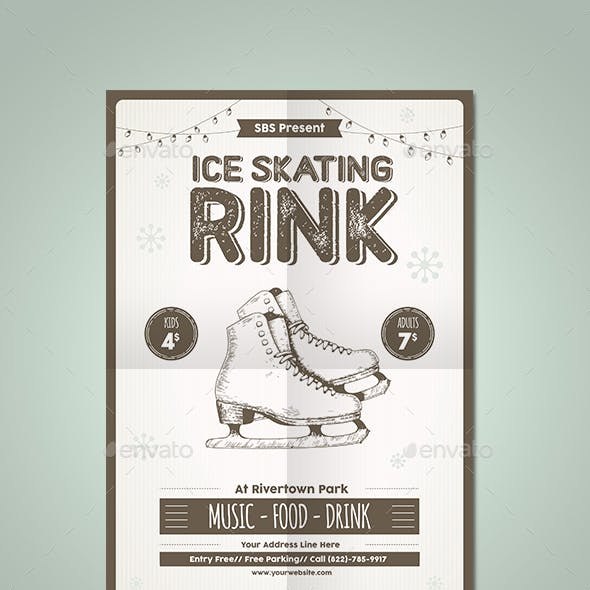 Ice Skating Rink Flyer Template