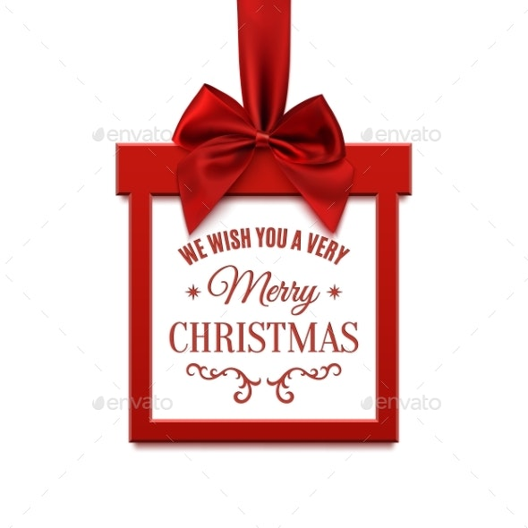 9d56e077fa Square Christmas Sale Banner in Form of Gift - Christmas Seasons/Holidays