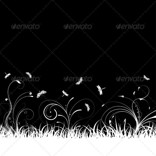 Grass Background - Flourishes / Swirls Decorative