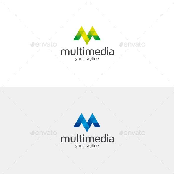 Multimedia M Letter Logo