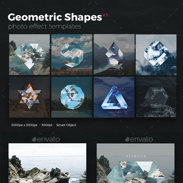 Geometric Shapes Photo Templates v1
