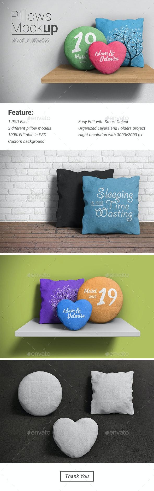 Pillow Mockup - Product Mock-Ups Graphics