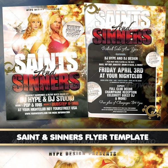 Saints & Sinners Flyer Template