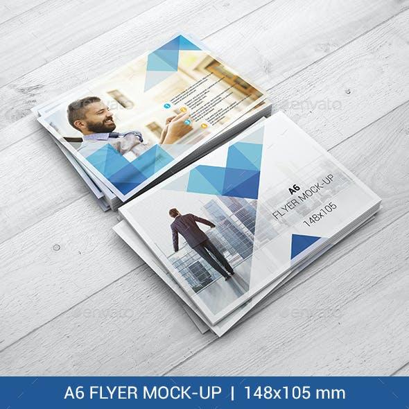 A6 Flyer Mock-Ups