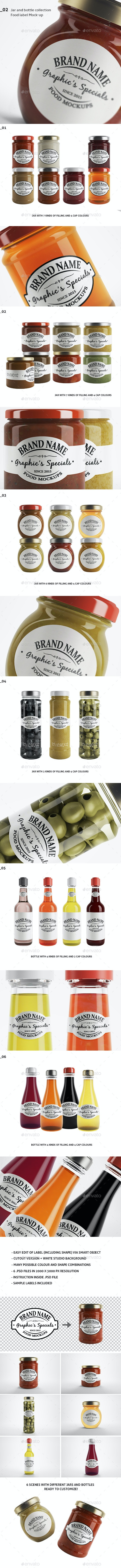 Jar/Bottle Mockups - Food and Drink Packaging