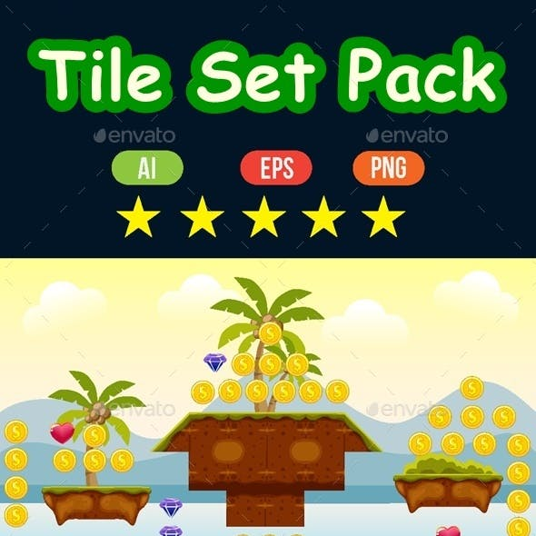 Tile Set Pack for Platformer Games