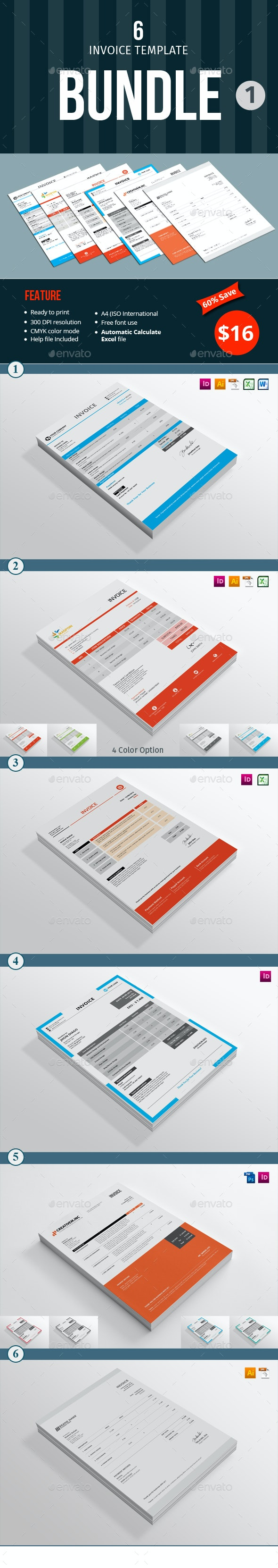Invoice Template Bundle - 1 - Proposals & Invoices Stationery