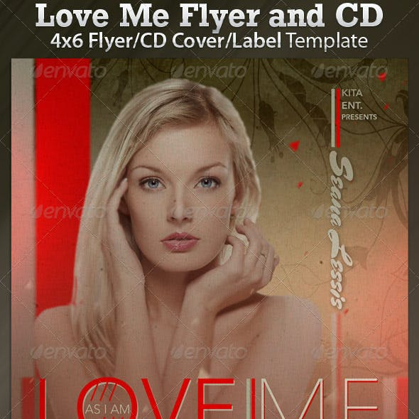 Love Me CD Cover and Flyer Template